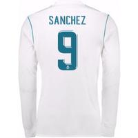 2017-18 Real Madrid Long Sleeve Home Shirt - Kids (Sanchez 9)