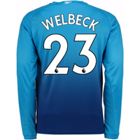 2017-2018 Arsenal Away Long Sleeve Shirt (Welbeck 23) - Kids