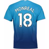 2017-2018 Arsenal Away Shirt (Monreal 18) - Kids
