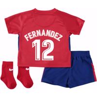 2017-2018 Atletico Madrid Home Baby Kit (Fernandez 12)