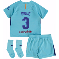2017-2018 Barcelona Away Baby Kit (Pique 3)