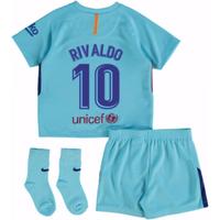 2017-2018 Barcelona Away Baby Kit (Rivaldo 10)