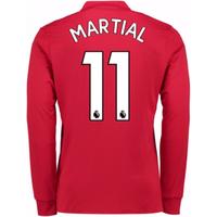 2017-2018 Man United Long Sleeve Home Shirt (Martial 11)
