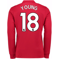 2017-2018 Man United Long Sleeve Home Shirt (Young 18)