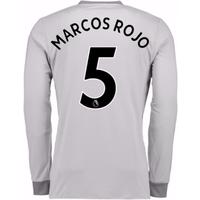 2017-2018 Man United Long Sleeve Third Shirt (Marcos Rojo 5)