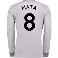 2017-2018 Man United Long Sleeve Third Shirt (Mata 8) - Kids