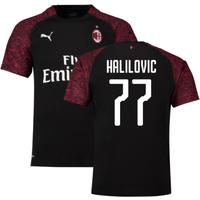 2018-19 Ac Milan Third Shirt (Halilovic 77) - Kids