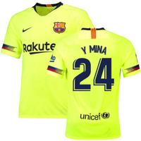 2018-19 Barcelona Away Shirt (Y Mina 24)