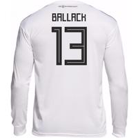2018-19 Germany Home Long Sleeve Shirt (Ballack 13)