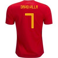 2018-19 Spain Home Shirt (David Villa 7)