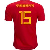 2018-19 Spain Home Shirt (Sergio Ramos 15) - Kids