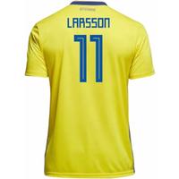 2018-19 Sweden Home Shirt (Larsson 11)