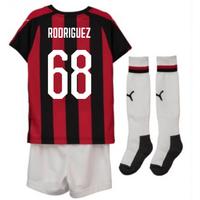 2018-2019 AC Milan Puma Home Mini Kit (Rodriguez 68)