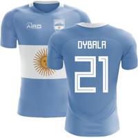 2018-2019 Argentina Flag Concept Football Shirt (Dybala 21)