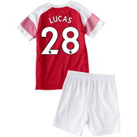 2018-2019 Arsenal Home Little Boys Mini Kit (Lucas 28)