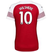 2018-2019 Arsenal Puma Home Ladies Shirt (Wilshere 10)
