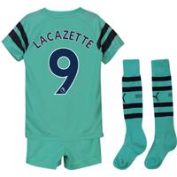 2018-2019 Arsenal Third Little Boys Mini Kit (Lacazette 9)