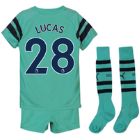 2018-2019 Arsenal Third Little Boys Mini Kit (Lucas 28)