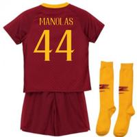 2018-2019 AS Roma Home Nike Little Boys Mini Kit (Manolas 44)