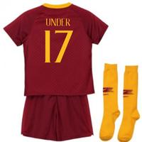 2018-2019 AS Roma Home Nike Little Boys Mini Kit (Under 17)