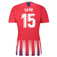 2018-2019 Atletico Madrid Home Nike Ladies Shirt (Savic 15)