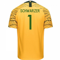 2018-2019 Australia Home Nike Football Shirt (Schwarzer 1)