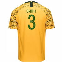 2018-2019 Australia Home Nike Football Shirt (Smith 3)