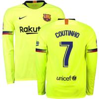 2018-2019 Barcelona Away Nike Long Sleeve Shirt (Coutinho 7)