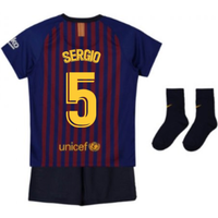 2018-2019 Barcelona Home Nike Baby Kit (Sergio 5)
