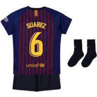2018-2019 Barcelona Home Nike Baby Kit (Suarez 6)