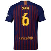 2018-2019 Barcelona Home Nike Football Shirt (Xavi 6) - Kids
