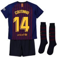 2018-2019 Barcelona Home Nike Little Boys Mini Kit (Coutinho 14)