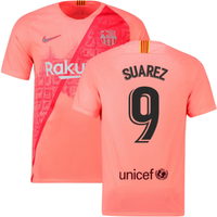 2018-2019 Barcelona Third Nike Football Shirt (Suarez 9)