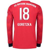 2018-2019 Bayern Munich Adidas Home Long Sleeve Shirt (Goretzka 18) - Kids