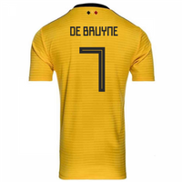 2018-2019 Belgium Away Adidas Football Shirt (De Bruyne 7)