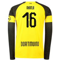 2018-2019 Borussia Dortmund Home Long Sleeve Puma Shirt (Akanji 16) - Kids
