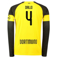 2018-2019 Borussia Dortmund Home Long Sleeve Puma Shirt (Diallo 4)