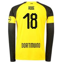 2018-2019 Borussia Dortmund Home Long Sleeve Puma Shirt (Rode 18)