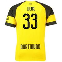 2018-2019 Borussia Dortmund Puma Home Football Shirt (Weigl 33) - Kids