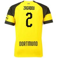 2018-2019 Borussia Dortmund Puma Home Football Shirt (Zagadou 2) - Kids