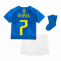 2018-2019 Brazil Away Nike Baby Kit (D Costa 7)