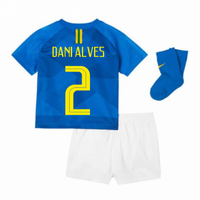 2018-2019 Brazil Away Nike Baby Kit (Dani Alves 2)