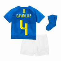 2018-2019 Brazil Away Nike Baby Kit (David Luiz 4)