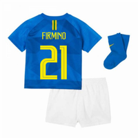 2018-2019 Brazil Away Nike Baby Kit (Firmino 21)