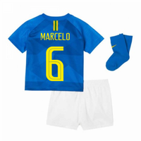 2018-2019 Brazil Away Nike Baby Kit (Marcelo 6)