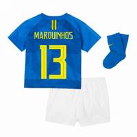 2018-2019 Brazil Away Nike Baby Kit (Marquinhos 13)