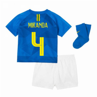 2018-2019 Brazil Away Nike Baby Kit (Miranda 4)