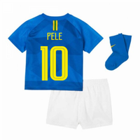 2018-2019 Brazil Away Nike Baby Kit (Pele 10)
