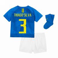 2018-2019 Brazil Away Nike Baby Kit (Thiago Silva 3)