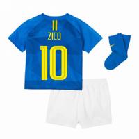 2018-2019 Brazil Away Nike Baby Kit (Zico 10)